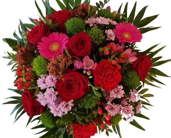 """Blumenstrauß mit roten Rosen heute versenden zu morgen liefern """"Botschafter der Liebe'"""""""