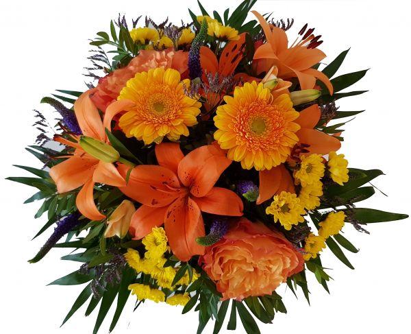 bunter Blumenstrauß ..Strahlemann..