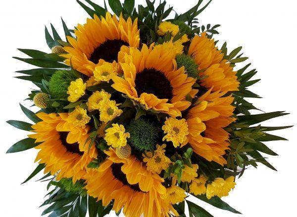 Geburtstagsstrauß mit Sonnenblumen
