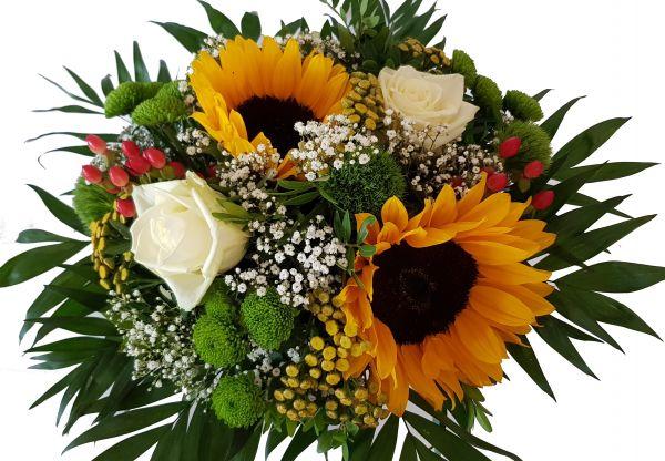 Blumensendung mit Sonnenblumen- der Perfekte Blumenstrauß zum Geburtstag