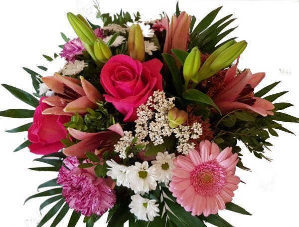 Blumengruß zum Geburtstag ,,Pink Lady,,