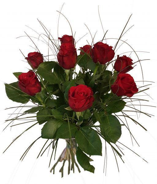 9x rote Rosen