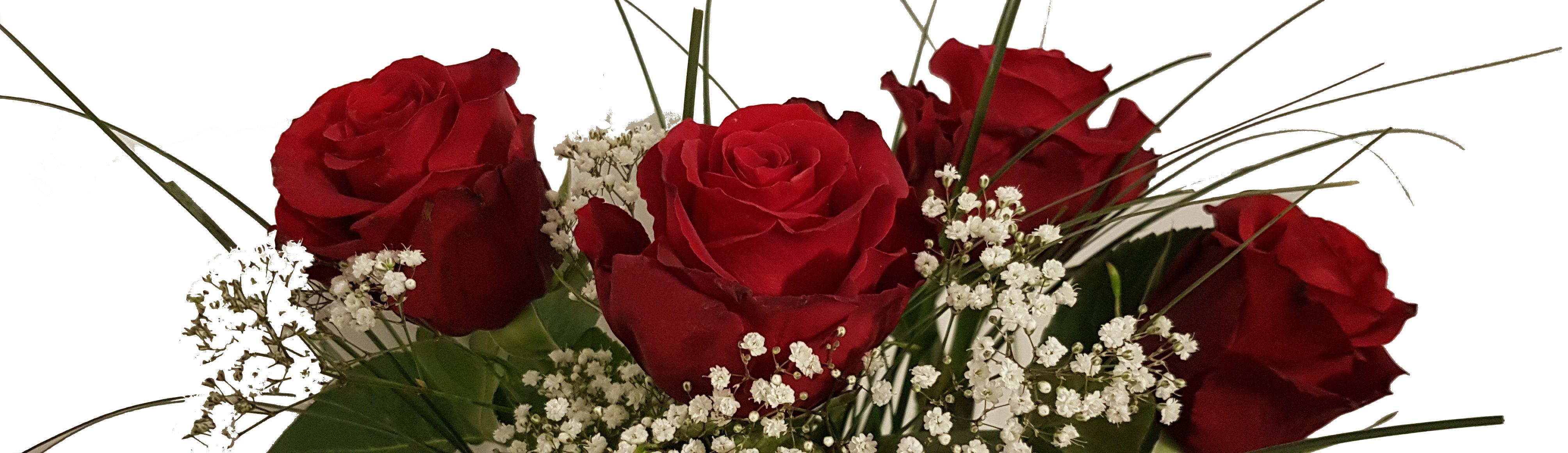 Strauß nur aus Rosen
