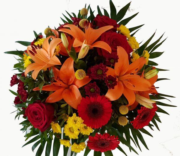 Harmonischer Blumenstrauß - Dreiglang der Farben- mit Express Lieferung