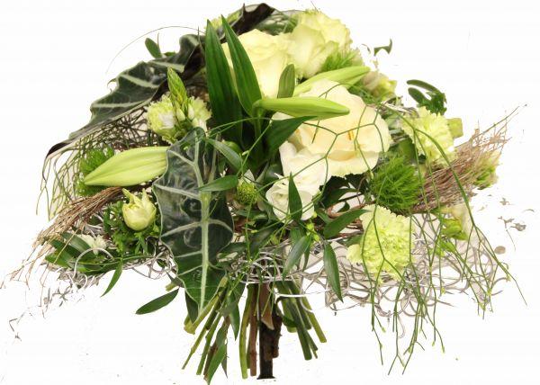 Edler Blumenstrauß mit weißen Rosen
