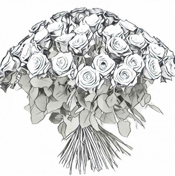 Bunter Überraschungsstrauß aus hochwertigen Fair Trade zertifizierten Rosen