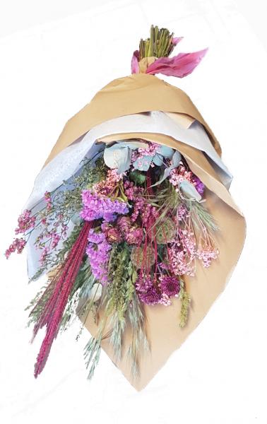 Sweet Easy -Trockenstrauß in rosa mit Trockenblumen