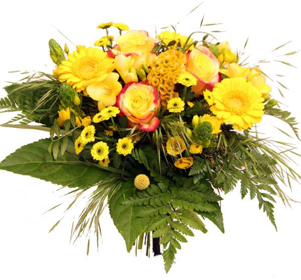 """Blumenlstrauß in GELB """"Sonnenanbeter"""""""