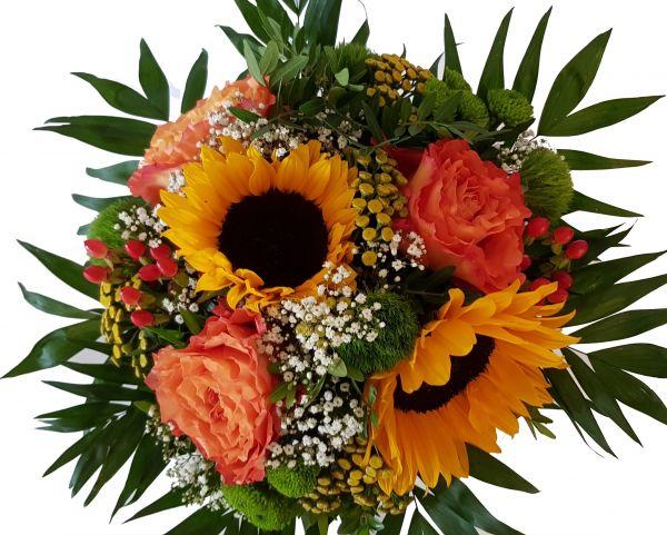 Sonnenblumen - frischer Blumenstrauß -Blumenversender- zu morgen Lieferbar