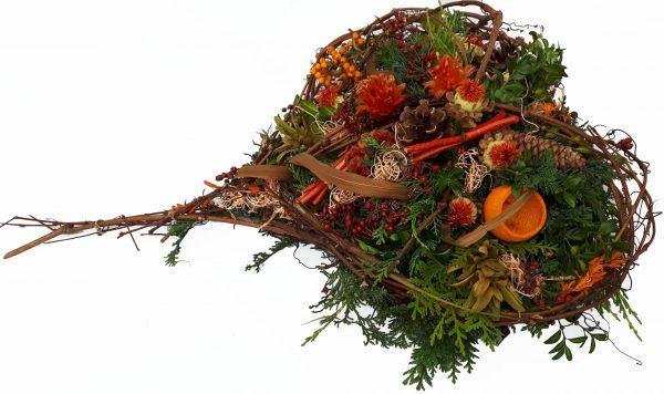 Gesteck Friedhof- Gesteck Totensonntag Allerheiligen Gesteck dauerhafter Grabschmuck