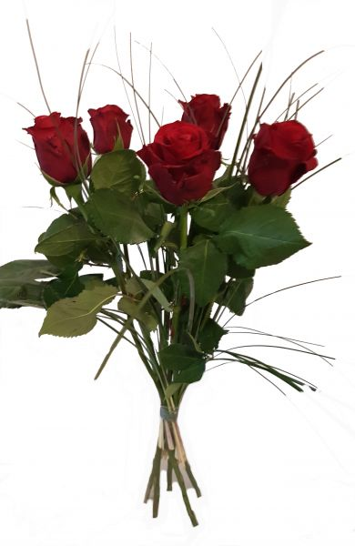 5x Rote Rosen XXL Blütenköpfe
