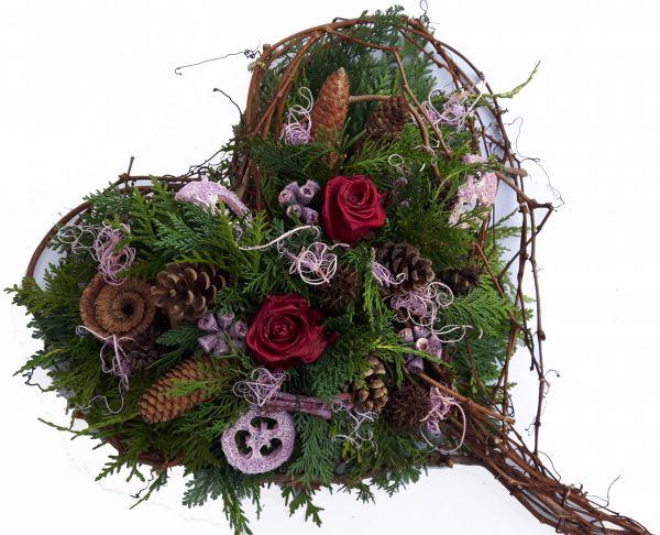 Grabgesteck- Gesteck Friedhof - Allerheiligen Trauergesteck Totensonntag
