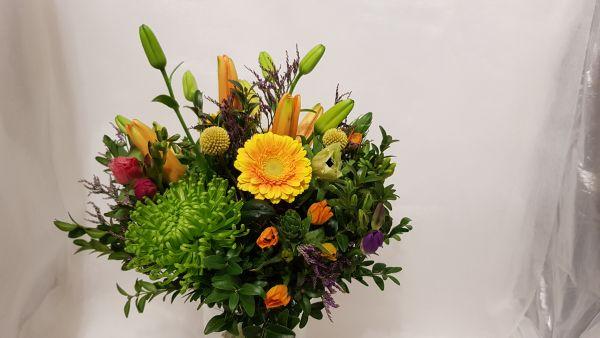 bunter Blumenstrauß zum Versenden mit Wunschtermin