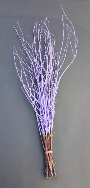 Trockenblumen - Birke - Lila