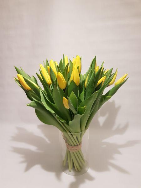 Frühlingsstrauß aus gelben Tulpen jetzt versenden über www.flora-trans.de