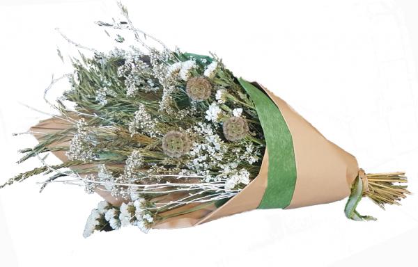 Naturally Easy -Trockenstrauß in weiß mit Trockenblumen-