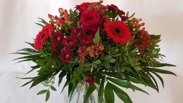 """Frischer Blumenstrauß mit Expresslieferung """"Rot wie die Liebe"""