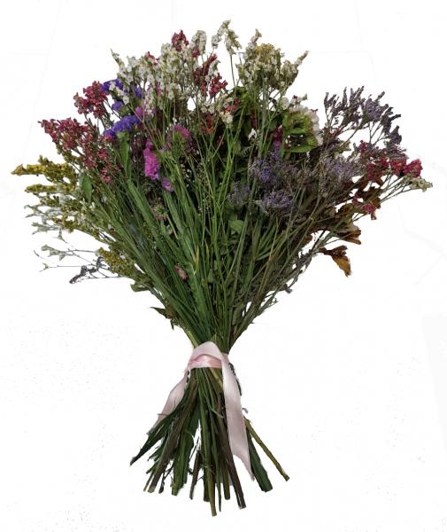 Bunter Strauß mit Trockenblumen