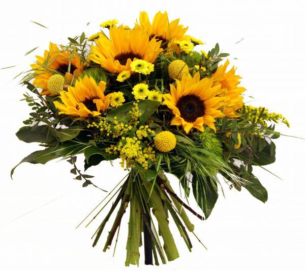 besonderer Blumenstrauß mit Sonnenblumen