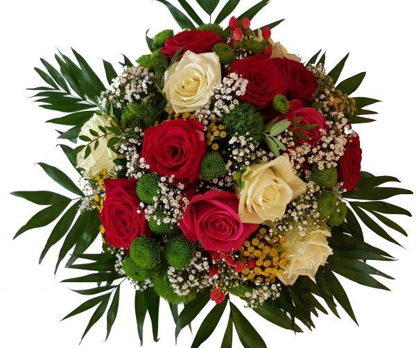 bunter Rosenstrauß ,,Inspiration der Blumen,, Blumenversand zu Morgen