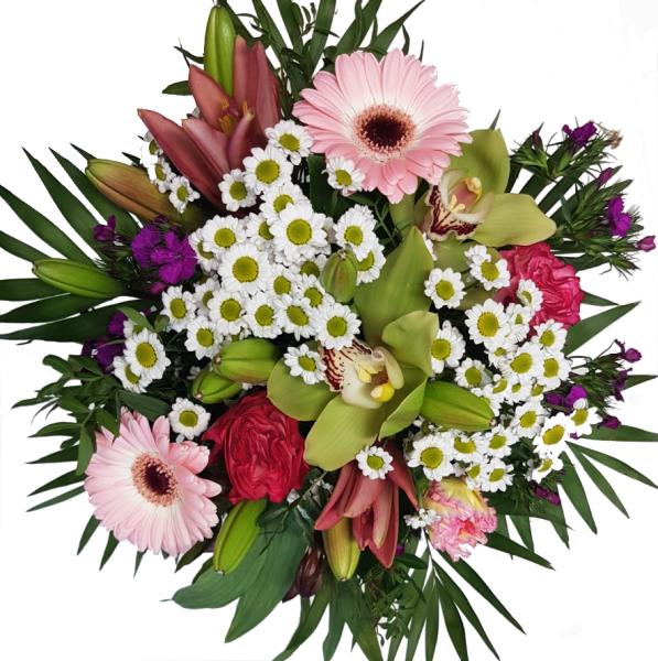 Blumenstrauß mit Orchiedeen und Rosen Angebot
