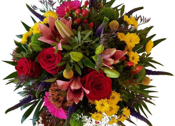 bunter Blumenstrauß ,,Farbenwelten,,