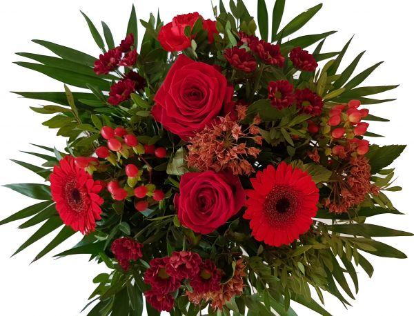 """Frischer Blumenstrauß mit Expresslieferung """"Blumen versenden in Rot, wie die Liebe""""-"""